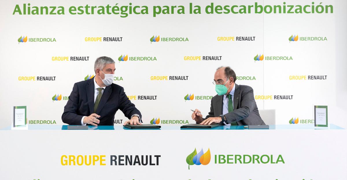 O grupo Renault assina acordo com a Iberdrola para alcançar uma pegada de carbono zero nas suas fábricas de Portugal e Espanha